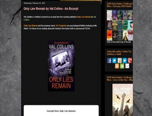 New Thriller 'Only Lies Remain' is now on The Qwillery!
